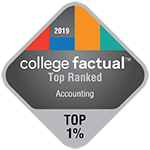 College Factual - Badge - Top Ranked - Top 1% - Accounting - 150x150