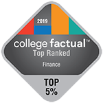 College Factual - Badge - Most Focused - Top 1% - Finance - 150x150