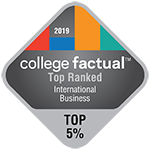 College Factual - Badge - Top Ranked - Top 5% - International Business - 150x150