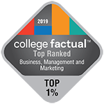 College Factual - Badge - Top Ranked - Top 1% - Management - 150x150