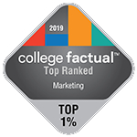 College Factual - Badge - Top Ranked - Top 1% - Marketing - 150x150