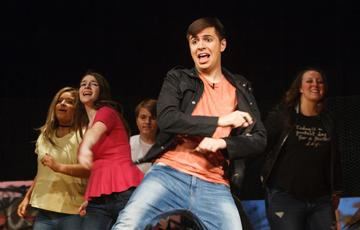 Bryant Players in the 2017 performance of Grease